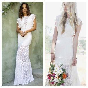Nightcap Free People Caletto Wedding Maxi Dress